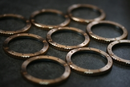 Close up of the Nethuns Bronze bezel